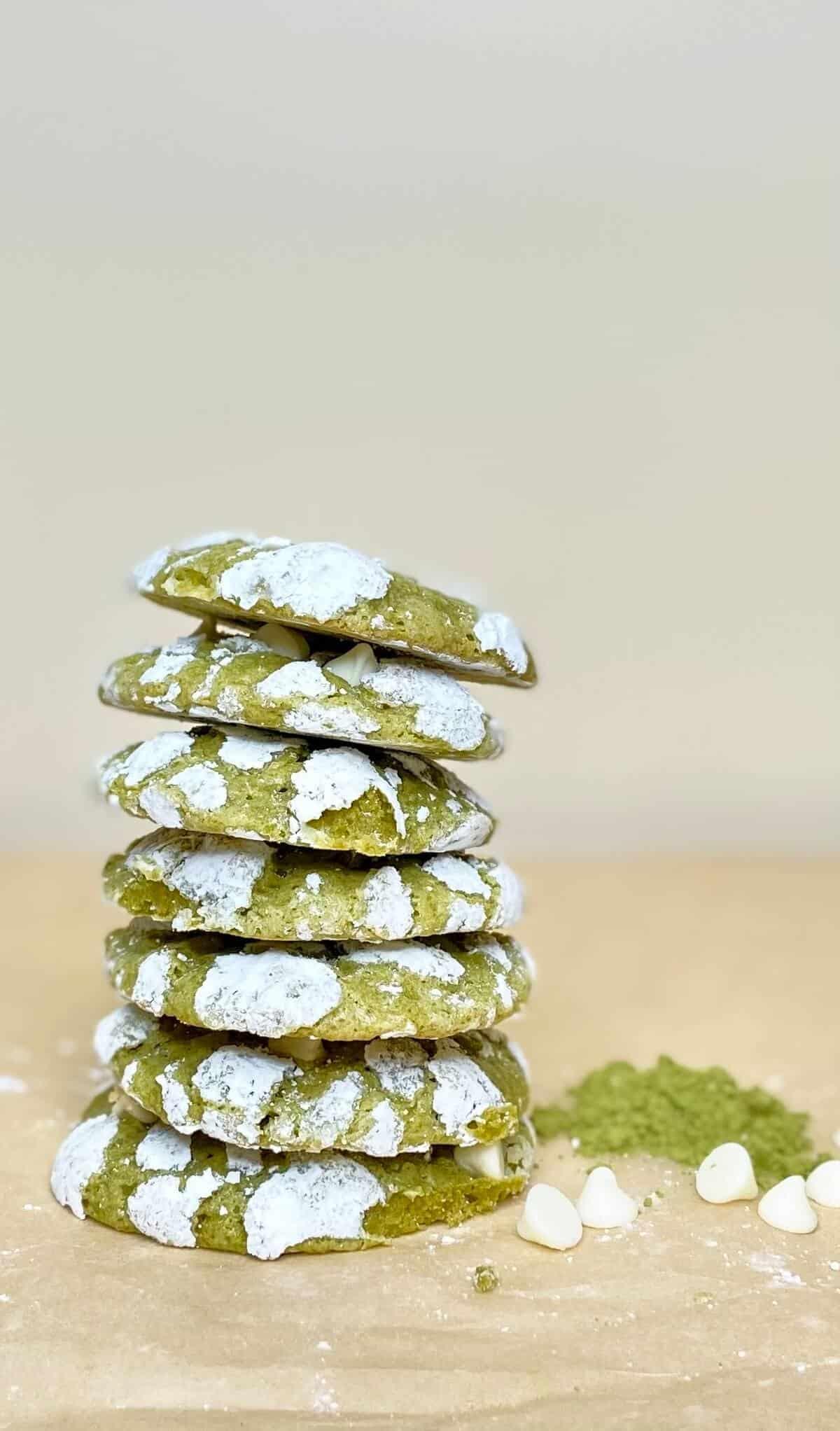 Matcha Crinkle Cookies (Photo by Viana Boenzli)
