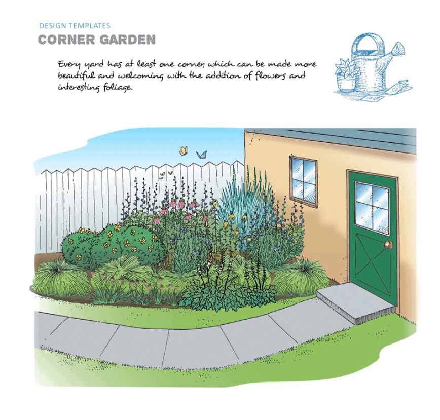 Native plants - Garden Design (Illustrations by Tom Maxfield; Designs by Kate Brandes)