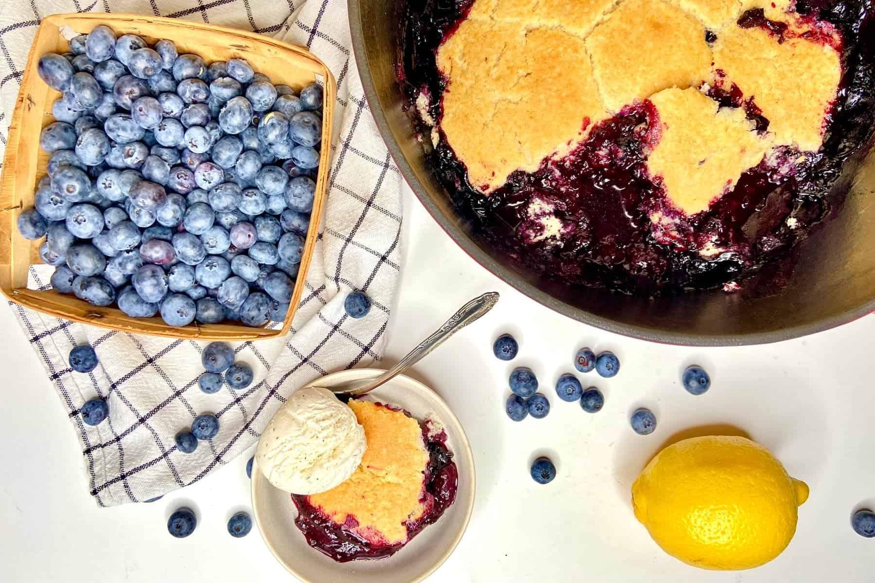 Dutch Oven Blueberry Cobbler (Photo by Viana Boenzli)