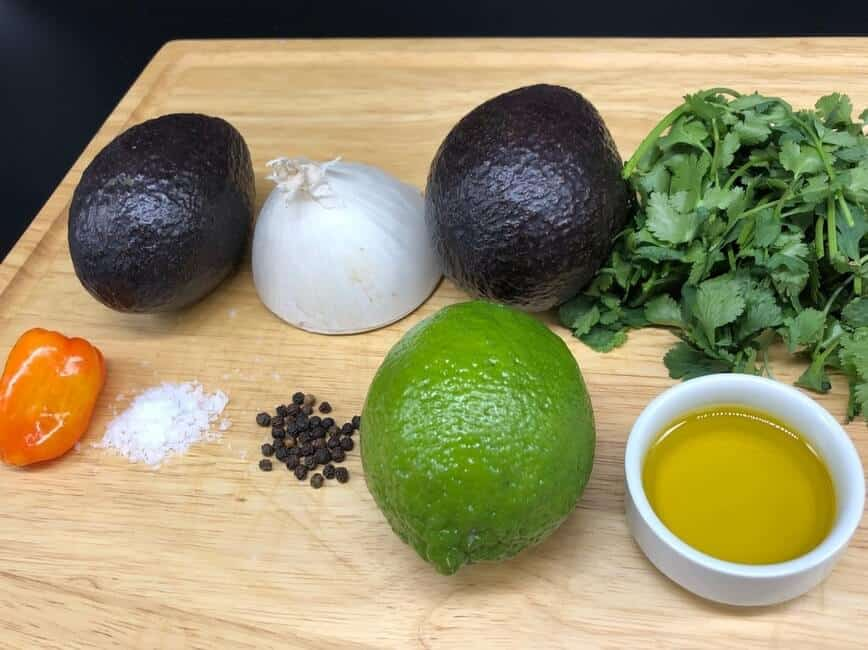 Guacamole ingredients (Photo by Erich Boenzli)